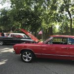 The Roxborough Car Club brought a variety of Chevy cars from the 1950's.