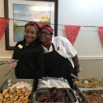 The lovely dining room ladies serving us a delicious meal.