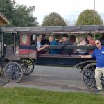 All aboard the horse and buggy.
