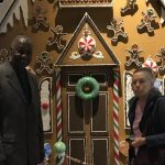 Byers' Choice beautiful gingerbread house display.