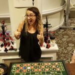 Colby excited about the success at her roulette table.