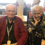 Mr. and Mrs. Drumheller celebrating Valentine's Day and Lucy's 96th  birthday!