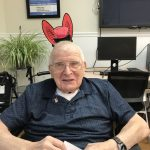 John created his own bunny ears for the event.